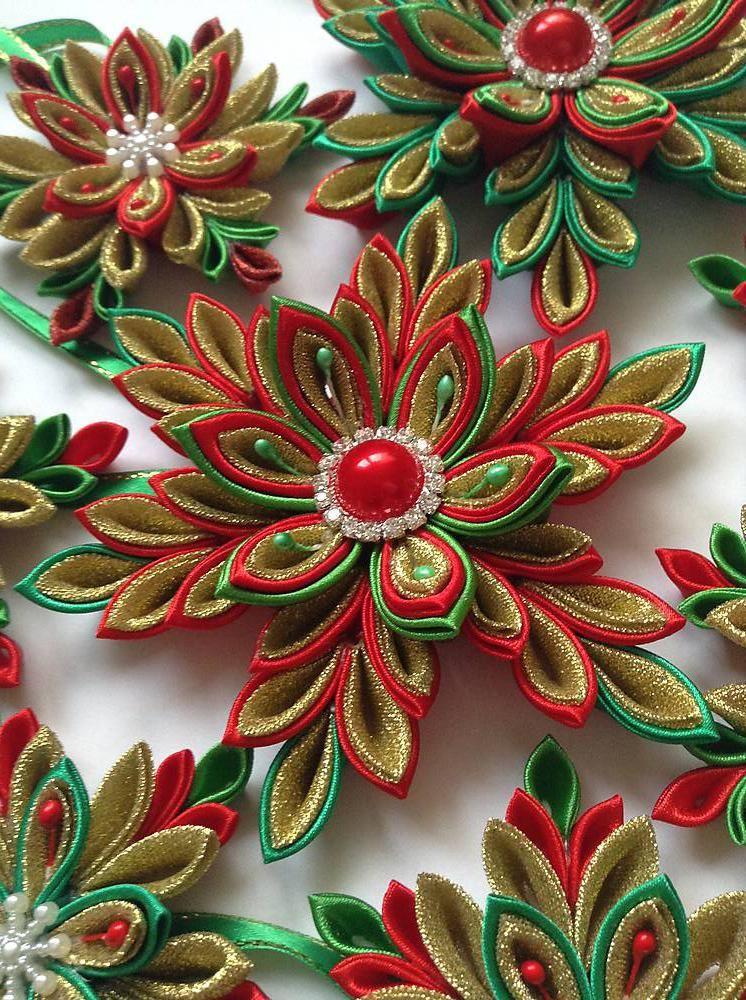 Dekorácie - Sada vianočných hviezd na stromček - 6094301_