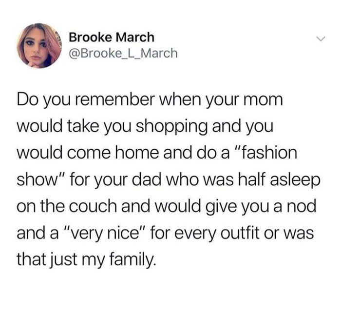 Dad becomes a fashion show judge
