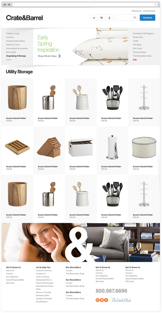Crate&Barrel on Behance