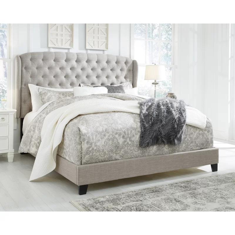 Watsonville Upholstered Standard Bed In 2020 Queen Upholstered Bed King Upholstered Bed Upholstered Beds