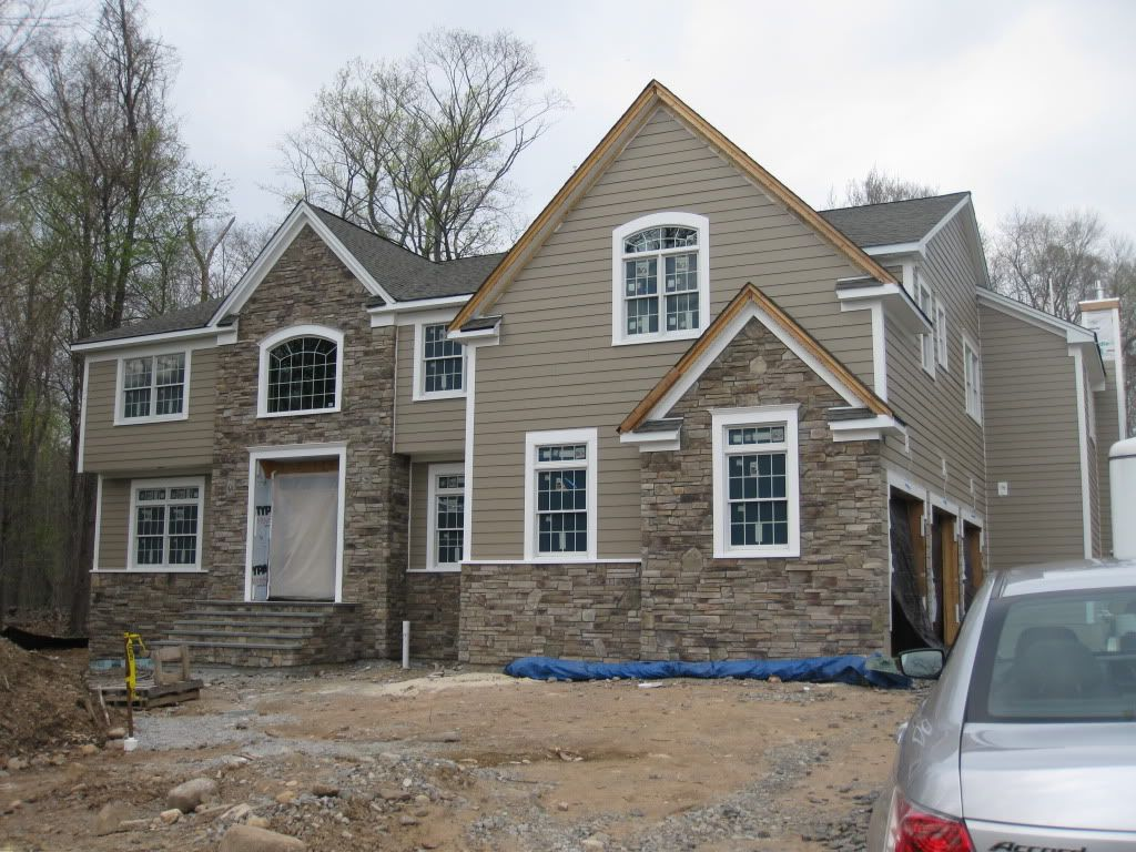 Stone And Siding Combinations Home Exterior Heres Mine Its - Exterior hardie board