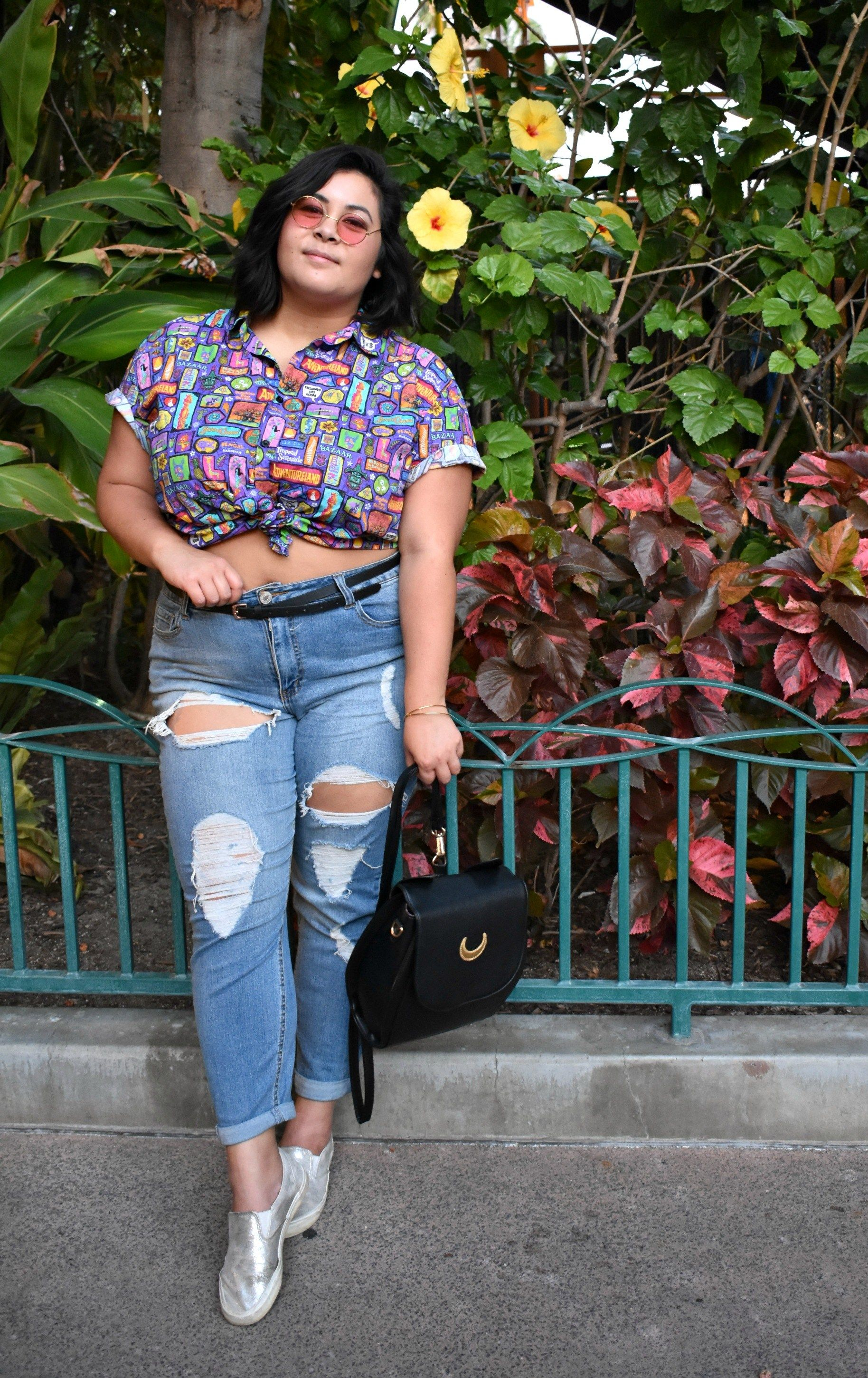 extraordinary hawaiian outfit with jeans eyes