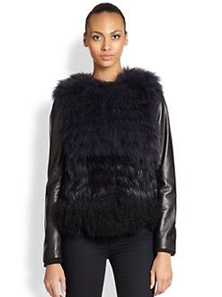 Ashley B - Convertible Fur & Leather Jacket