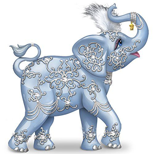 Thomas Kinkade Dazzling Delight: Collectible Elephant Figurine With  Swarovski Crystal By The Hamilton Collection Hamilton