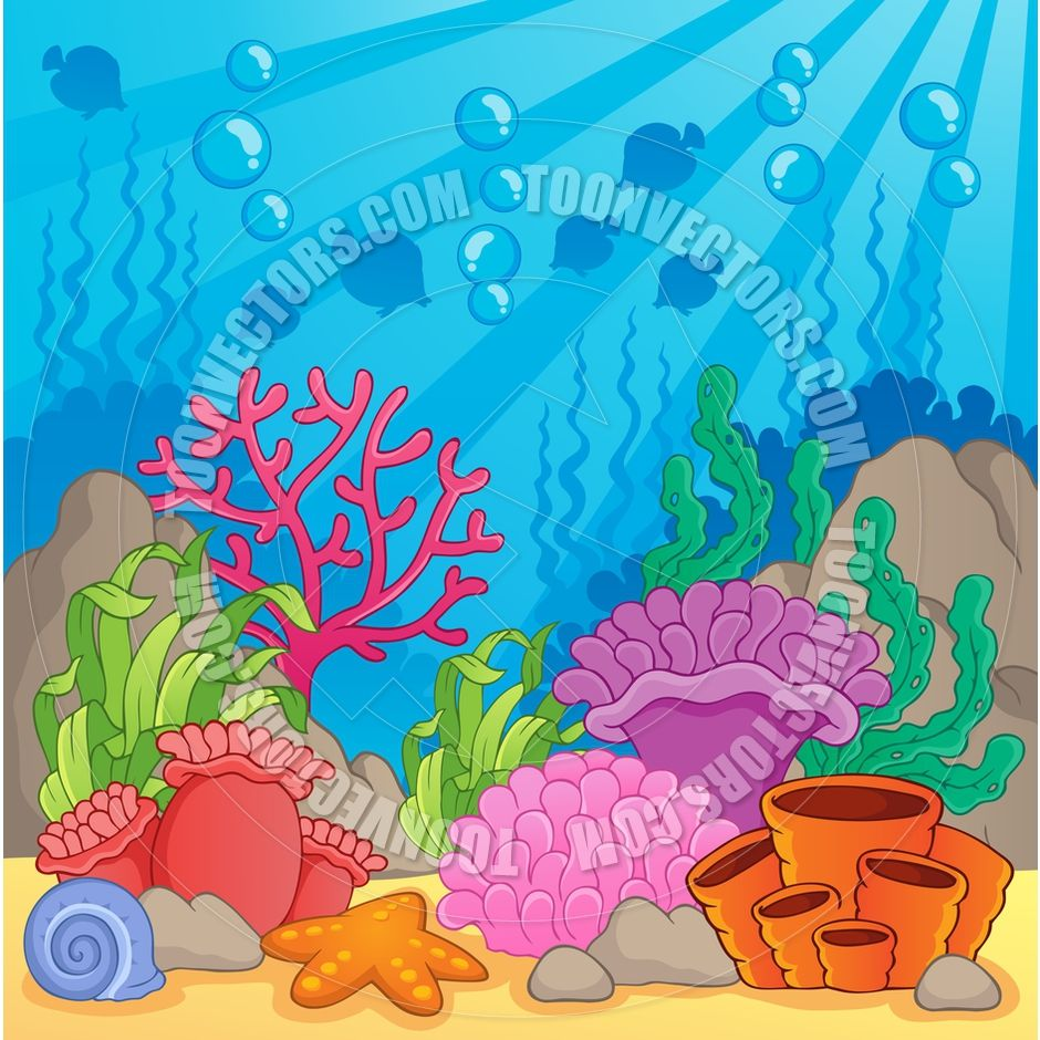 coral cartoon cartoon coral reef theme image by clairev toon