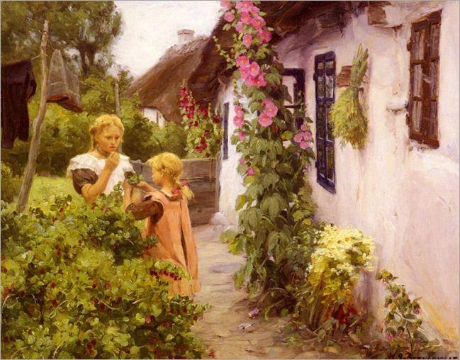 The Cottage Garden-Hans-Anderson-Brendekilde