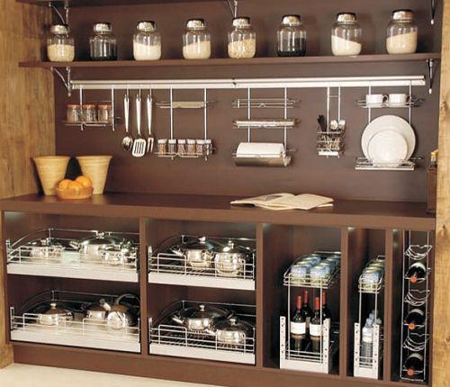 25 best ideas about aramados para cozinha on pinterest organizador de utens lios organizar - Organizador armarios cocina ...