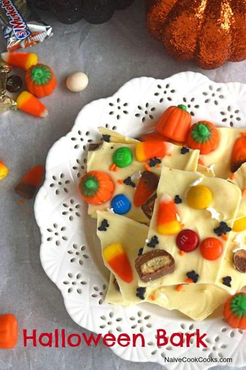 2 Ingredient Candy Bark that will make for a perfect Halloween Treat!