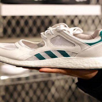 Cheap Priced ADIDAS ORIGINALS WOMENS EQUIPMENT EQT RACING 91 16 BOOST GREEN  WHITE S75212 shoe d95085285