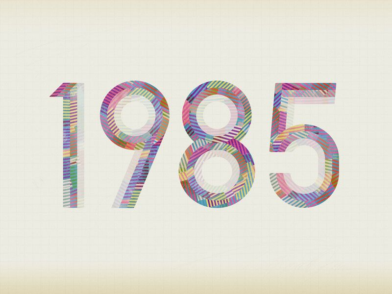 1985 is a new typo­graphic exper­i­ment by Jan Avendano.