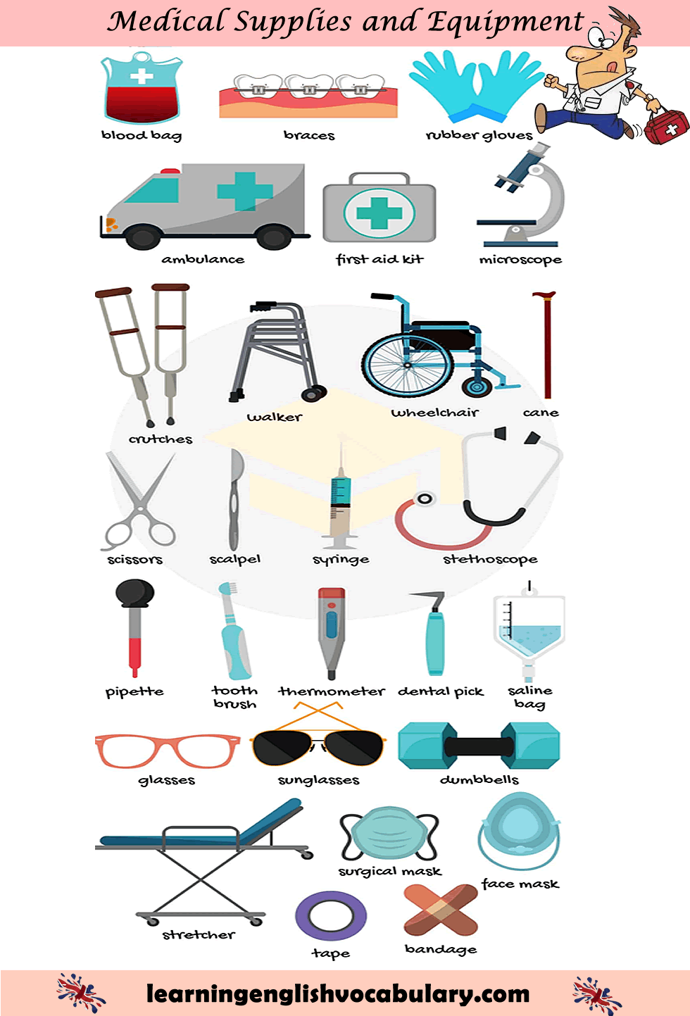 First Aid Equipment And Treatment Vocabulary Pdf Ideo