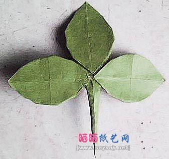 How to make origami leaf | 317x337