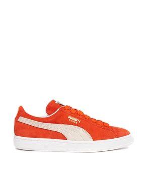 Puma Suede Classic Orange Sneakers