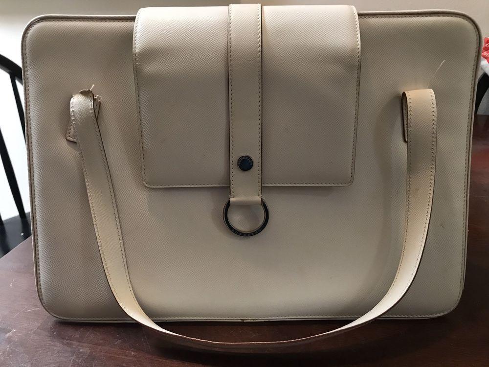 ac80f203769e BURBERRY Cream White Handbag NO RESERVE 99 CENT AUCTION