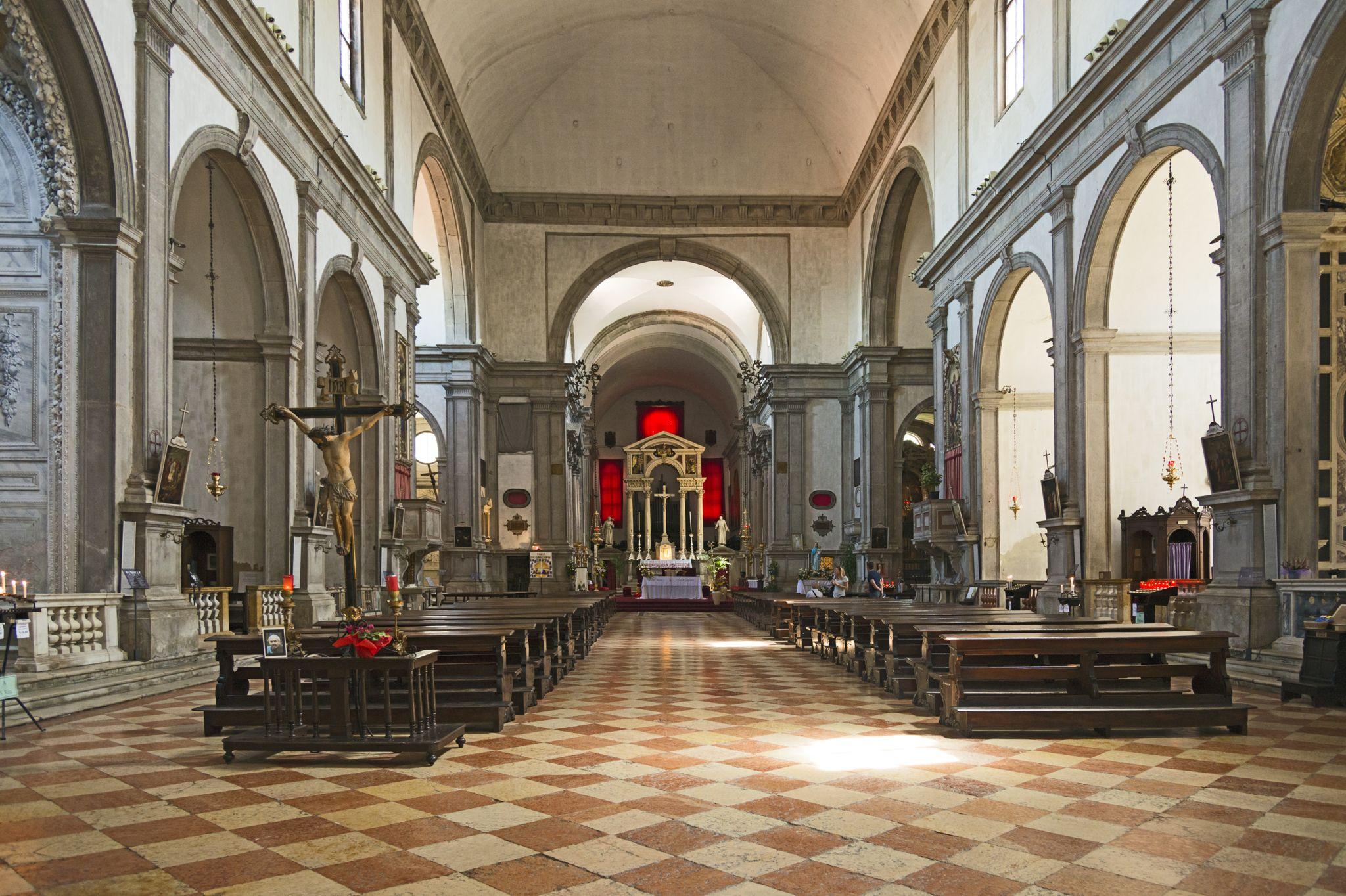 San Francesco della Vigna: Interior. Sansovino. 1534. Campo San Francesco della Vigna. Venice.