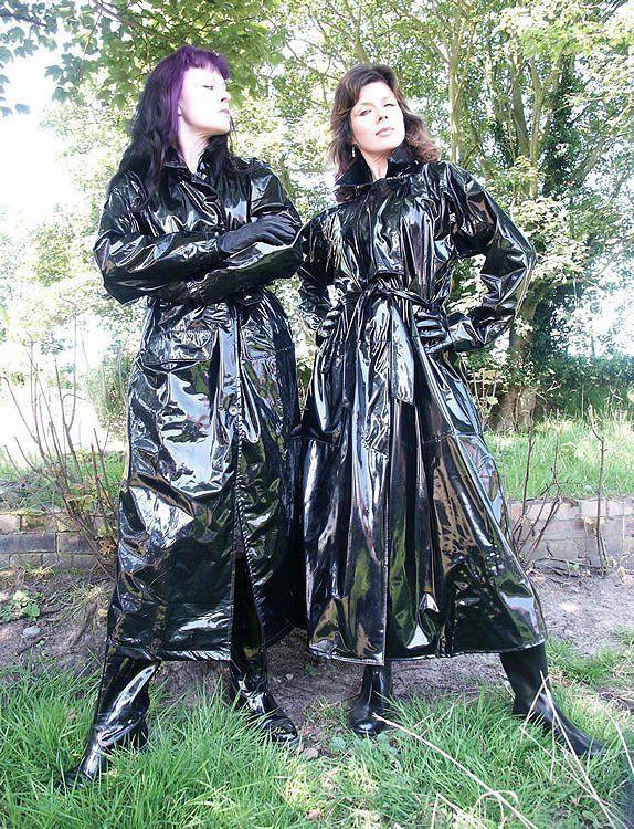 Black PVC Raincoats