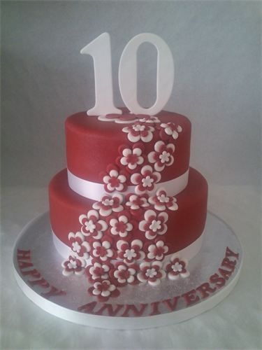 10th Wedding Anniversary Cakes With Images Wedding Anniversary