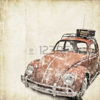 antique cars: retro background with old car