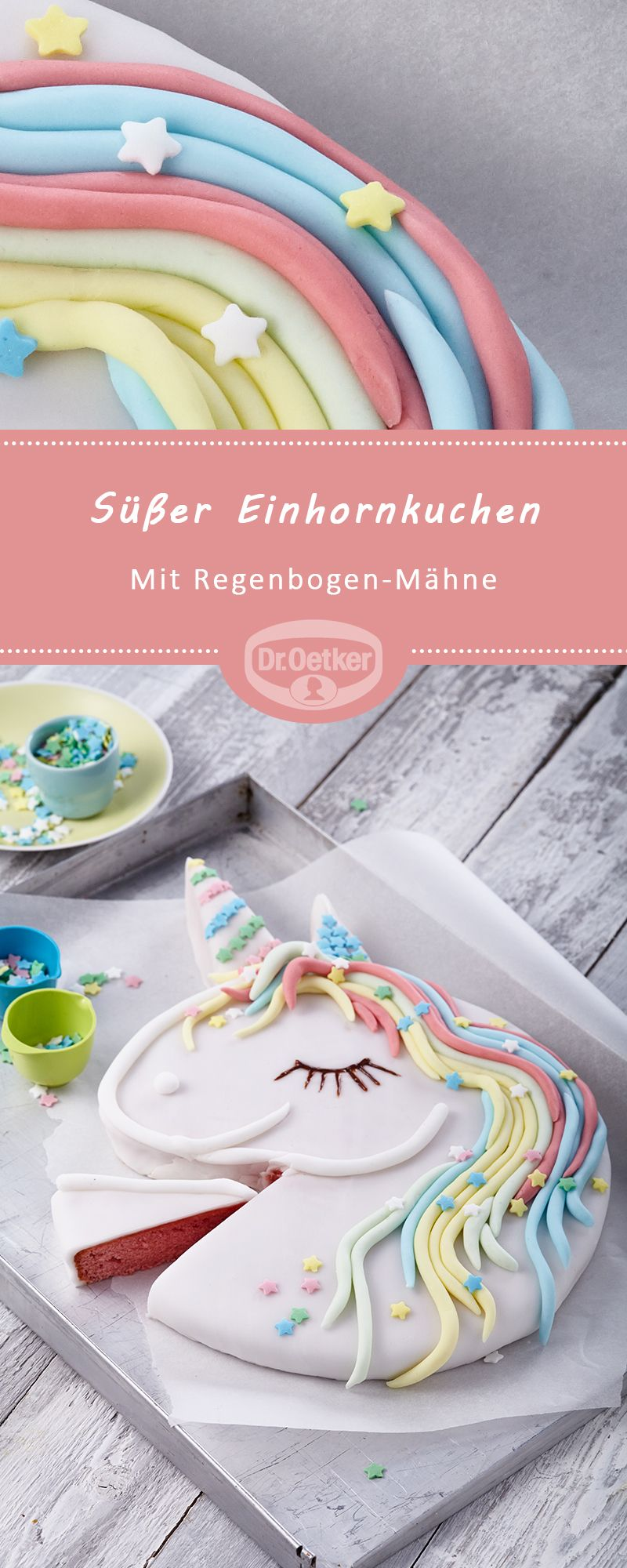 Süßer Einhornkuchen #geburtstagskuchenkinder