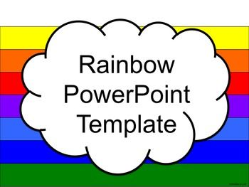 Rainbow powerpoint template language arts social studies and math enjoy this bright and colorful rainbow themed powerpoint template each slide is clean and simple toneelgroepblik Images
