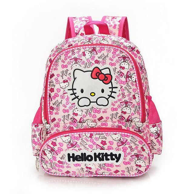 8755e0700e Hello Kitty Girl s School Bag Child Backpack Bags School Backpacks  Schoolbag Bags Lovely Children Backpack