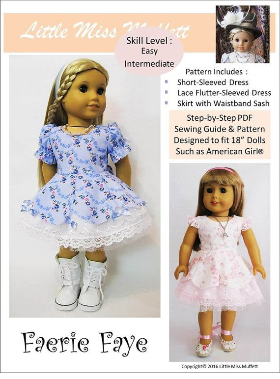 Pixie Faire Little Miss Muffett Faerie Faye Doll Clothes Pattern for ...