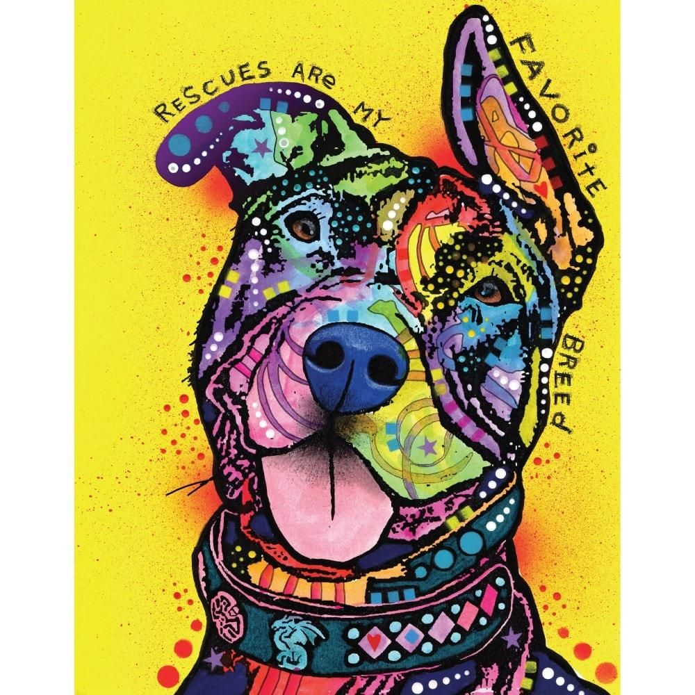 Pit Bull Splash Art Decal - My Favorite Breed by Dean Russo | Pit ...
