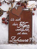 Spruchtafel - Edel-Rost -Tafel - Garten - Schild -
