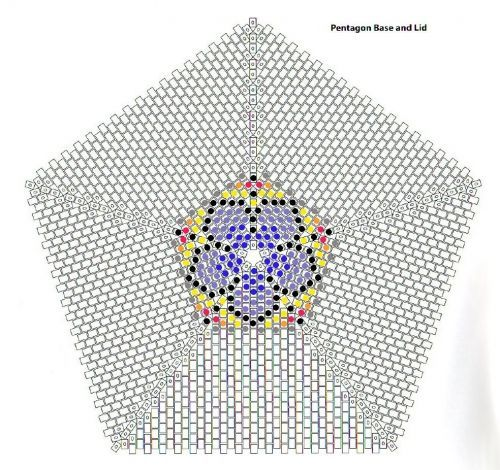 Image Result For Beaded Pentagon Graph  Beading