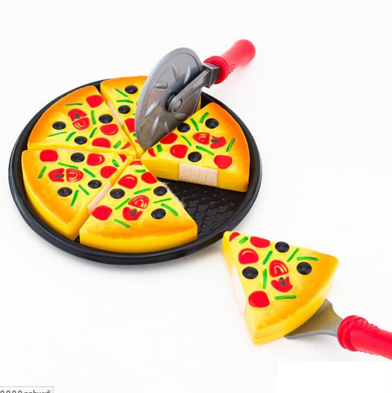 부엌 피자 파티 빠른 식품 조각 절단 척 play 식품 어린이 장난감 척 play 게임 아이 toys