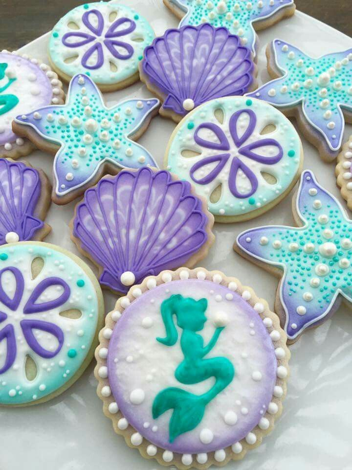 Mermaid Cookies With Images Mermaid Cookies Fun Cookies