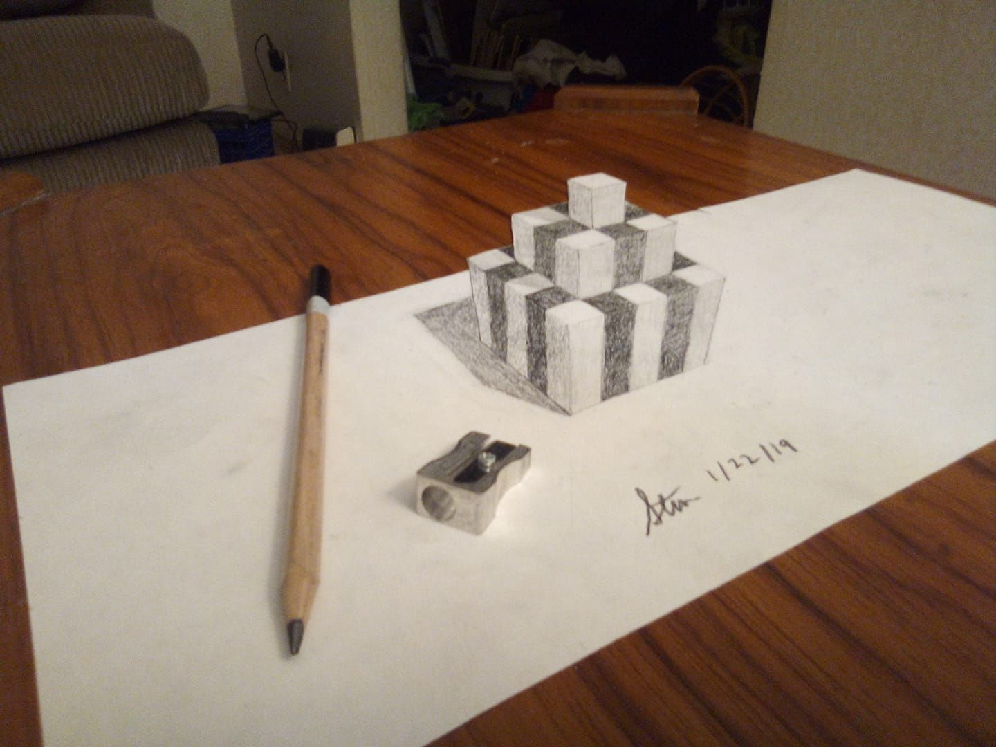 I M Exploring 3d Art Now New To Me Type Of Drawing But Fun To Do Types Of Drawing Art Photography Sketch Book