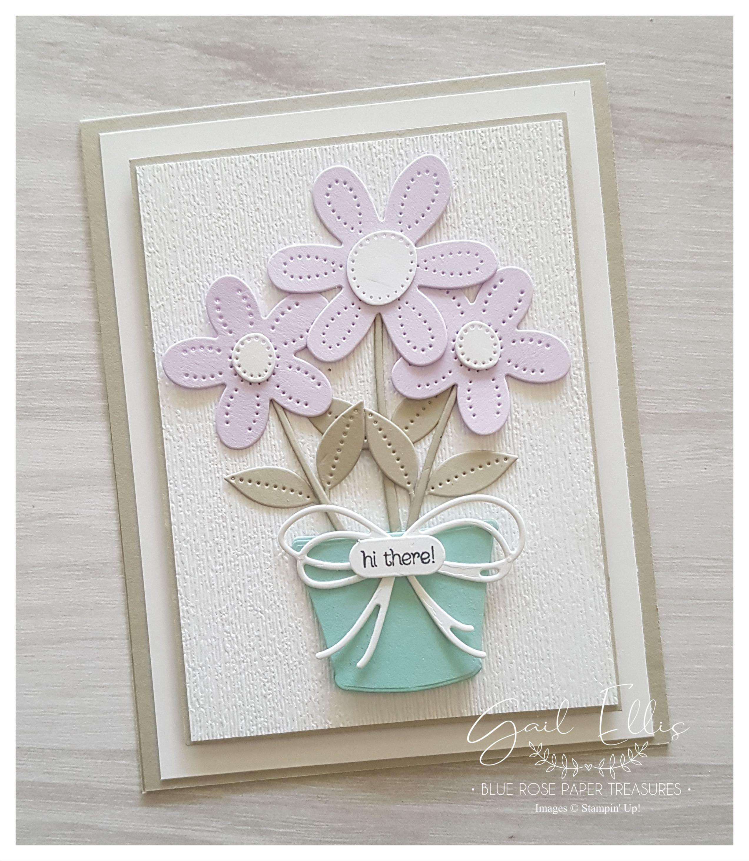 Stampin Up Pierced Blooms Dies Cards