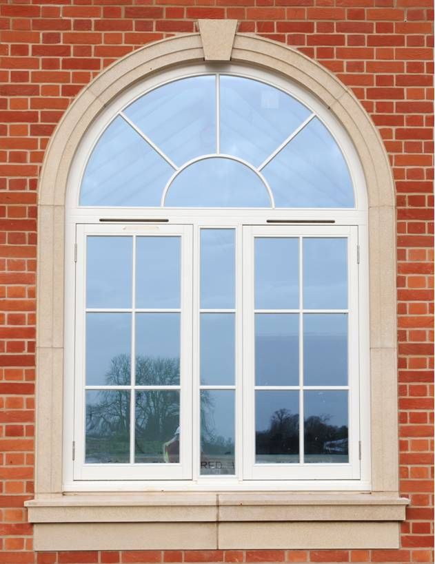 Granite Arched Home Window Design Ideas : Exterior Home Window ...