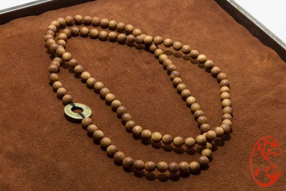 Unique 108 Sandalwood Mala Hand Knotted Handmade by