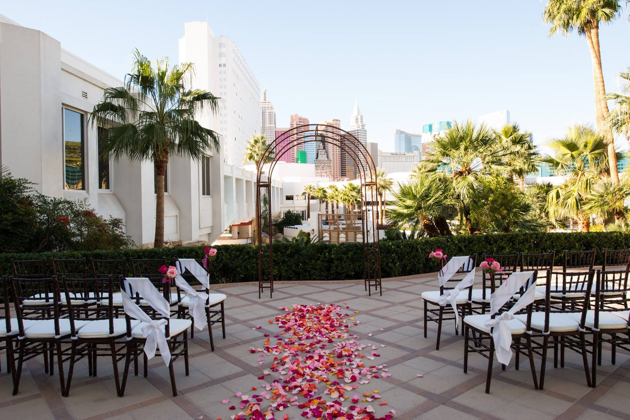 Tropicana Lv Weddings Terrace Las Vegas Wedding Chapel Tropical Chapels