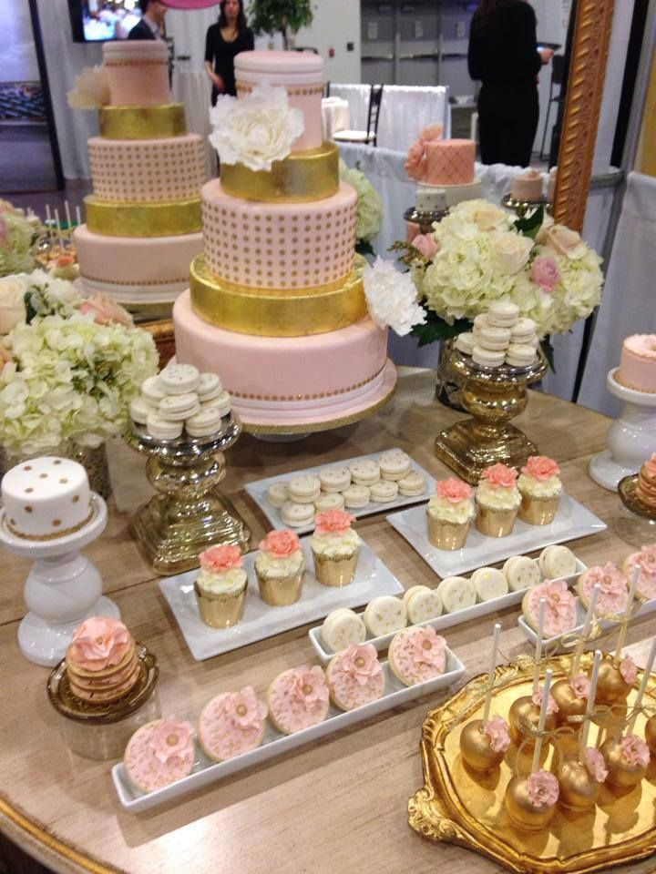 Pink and Gold Sweet Table! | Bridal shower in 2019 | Gold ...