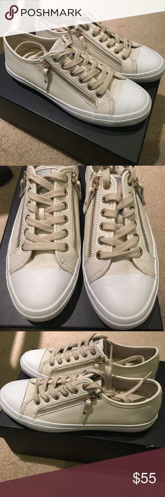 Coach leather chalk sneakers 👟 In excellent condition. Close to new. Authentic. Comes in original box Coach Shoes Sneakers