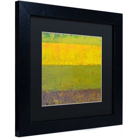 Trademark Fine Art Highway Series Sunrise Canvas Art by Michelle Calkins, Black Matte, Black Frame, Size: 11 x 11