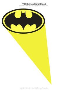 Free Superhero Printables Bat Signal In The Sky Clipart Lots Of Free Superhero Printables Batman Party Batman Birthday