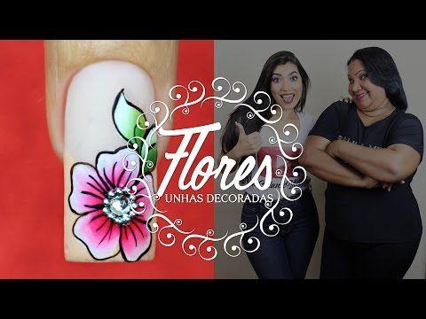 Unhas Decoradas Vermelhas | Cola na Villar - YouTube