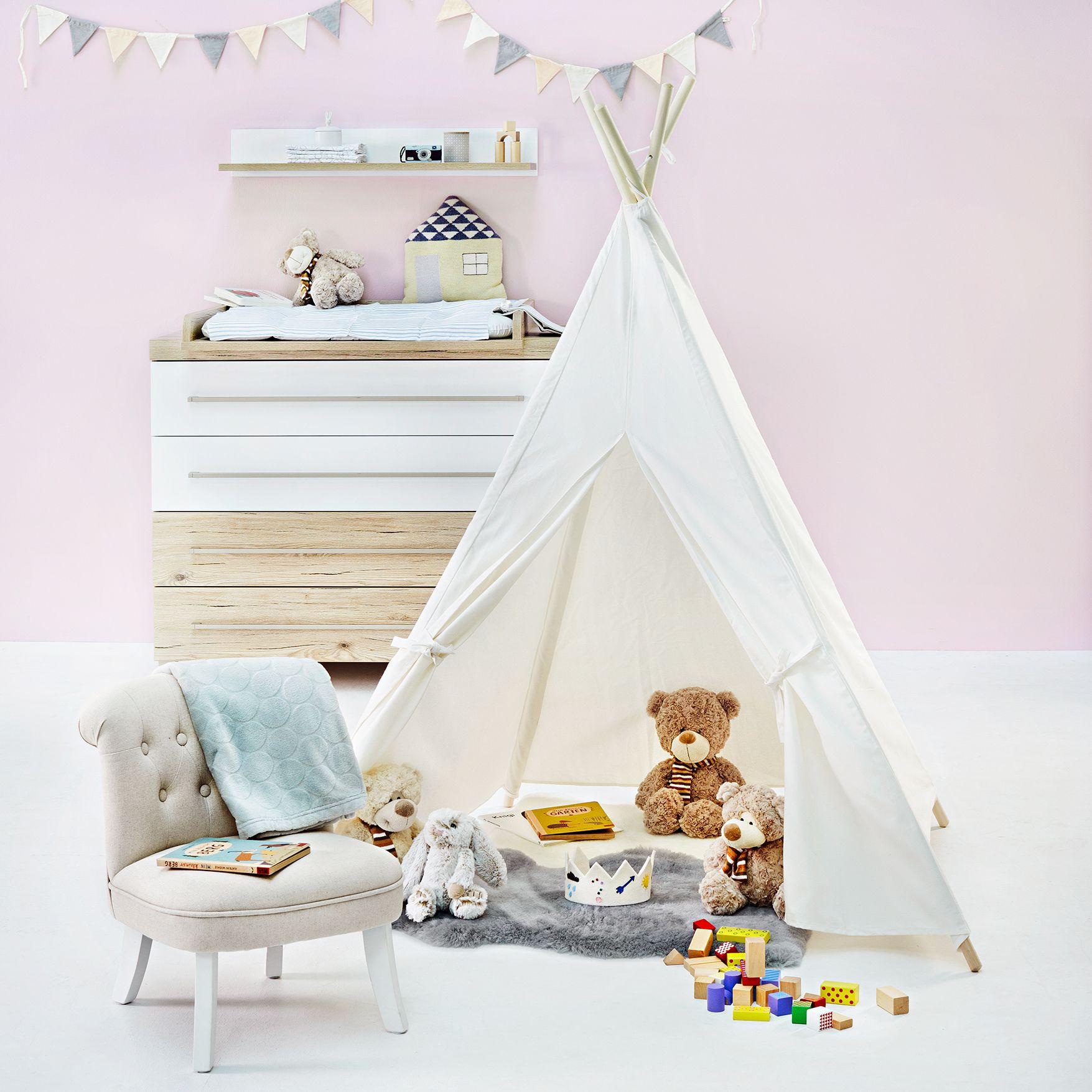 Spielzelt Kinder tipi, Kleinkinderbett und Kinderzimmer