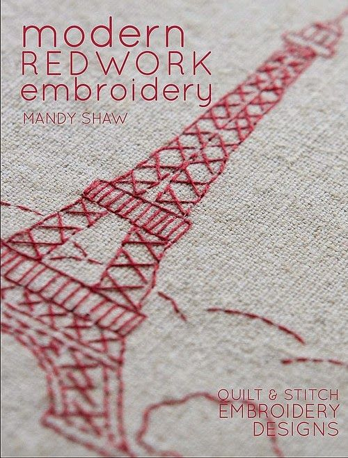 Shaw mandy modern redwork embroidery quilt and stitch