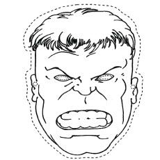 25 popular hulk coloring pages for toddler crafts for for Incredible hulk face template