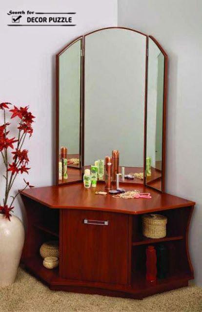 . modern corner dressing table designs 2015 for small bedroom design