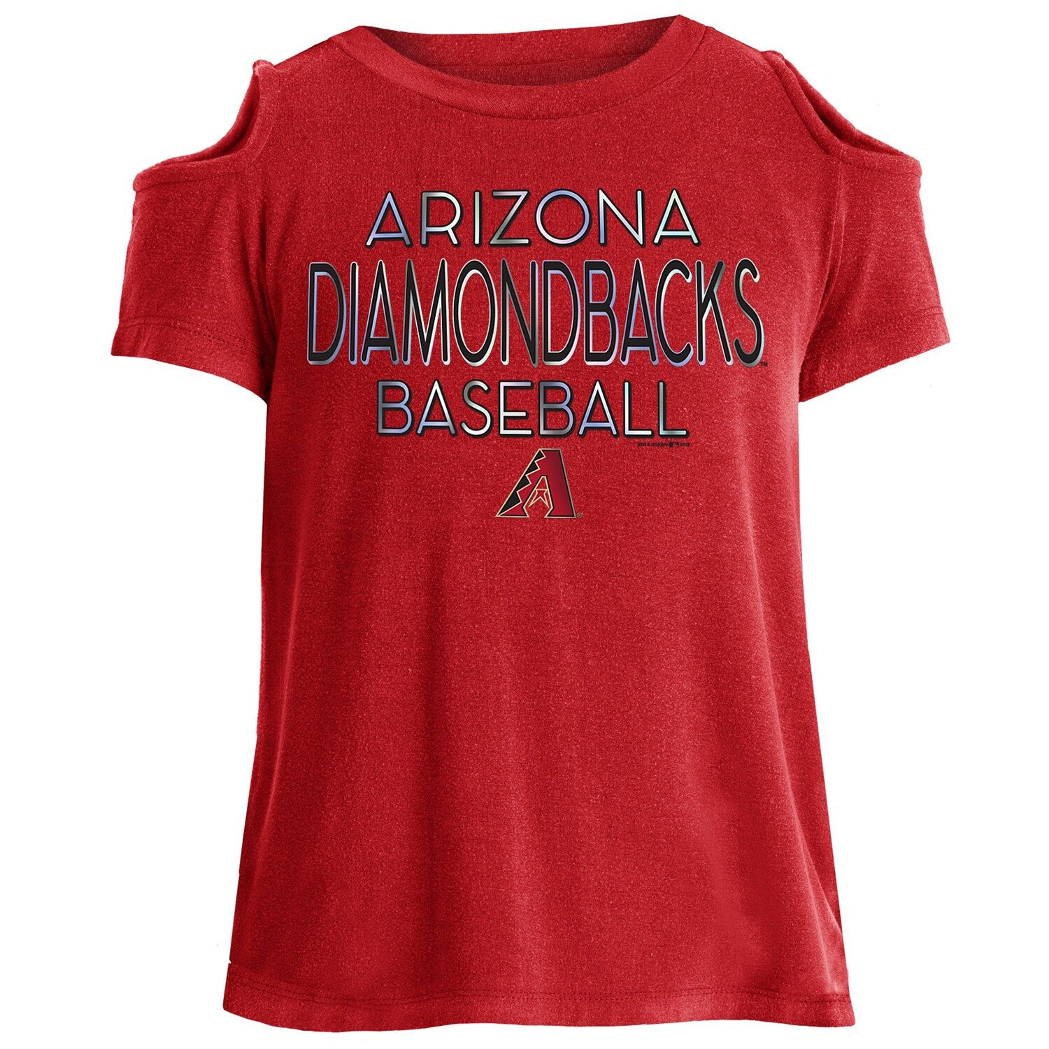 Girls 716 Arizona Diamondbacks ColdShoulder Foil Tee