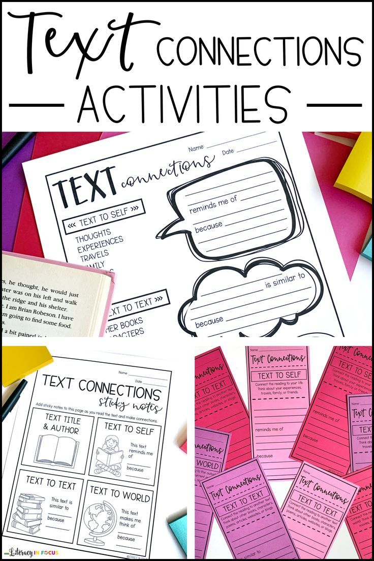 Text Connections Activities Text To Text Connections Anchor Charts Elementary Teaching Resources