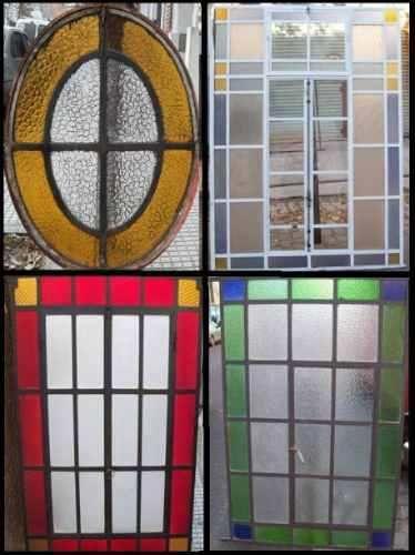 Puertas y ventanas antiguas de hierro reciclados grupodan for Puertas con vidrieras decorativas