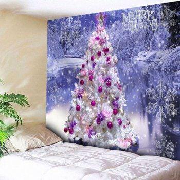 Christmas Tree Snowflake Wall Decor Tapestry Snowflakes Wall Decor Diy Christmas Decorations For Home Christmas Tree