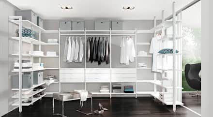 Begehbarer Kleiderschrank   Regalsystem Ankleidezimmer CLOS IT: Moderne  Ankleidezimmer Von Regalraum GmbH